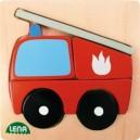 Dřevěné puzzle, hasič