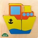 Dřevěné puzzle, loď
