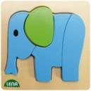 Dřevěné puzzle, slon