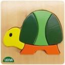 Dřevěné puzzle, želva