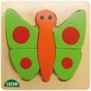 Dřevěné puzzle, motýl