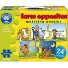 Na farmě - protiklady - puzzle