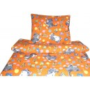 Povlečení bavlna - Kočička oranžová