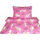 Povlečení bavlna - Alík růžový obrazový polštář