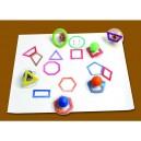 Razítka - Geometrické obrysy - 10ks