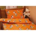 Bavlněné povlečení Zebra - oranžová