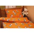 Povlečení zebra - oranžové, bavlna