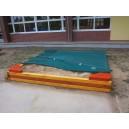 Krycí plachta na pískoviště 3 x 3 m + montáž