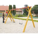 Řetězová dvouhoupačka se žebříkem AKÁT + montáž