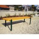 Parková lavička bez opěradla + montáž