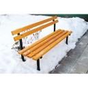 Parková lavička s opěradlem, provedení - na postavení + montáž