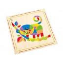 Mozaika z písku - Opice