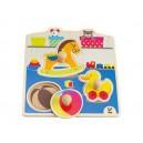 Úchopové puzzle - moje hračky