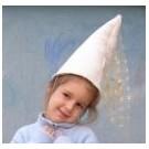Bílá paní klobouk