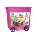 Stavebnice Clics v pojízdném boxu - Glitter 800 dílů