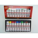 Akrylové barvy 40 ml - 10 ks