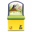 Krteček - 2v1 židlička s prostorem na hračky žlutá