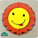 Dřevěné puzzle, sluníčko