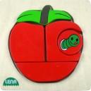 Dřevěné puzzle, jablko