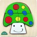 Dřevěné puzzle, houba