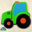 Dřevěné puzzle, traktor