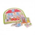 Dřevěné vícevrstvé Puzzle - Dům