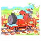 Dřevěné puzzle vlak 9 dílků