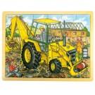 Dřevěné puzzle Bagr 24 dílků