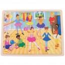 Dřevěné puzzle - Baletky 35 dílků