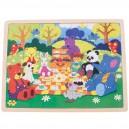 Dřevěné puzzle - Piknik v parku 35 dílků