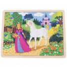 Dřevěné puzzle - Princezna 35 dílků