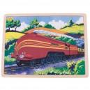 Dřevěné puzzle - historický vlak Vévodkyně z Hamiltonu 35 dílků