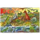 Dřevěné puzzle - Dinosauři 48 dílků