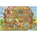 Dřevěné puzzle - Noemova Archa  96 dílků