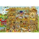 Dřevěné puzzle - Hrad 96 dílků