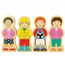 Dřevěné puzzle - Národnosti
