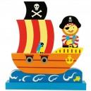 Magnetické puzzle pirátská loď