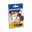 Obličejové barvy 6ks x 17g /120mm,∅11mm/ tyčinky, 6 barev