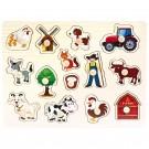 Dřevěné puzzle farma, 14dílků