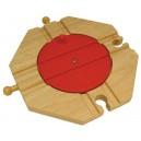 Dřevěné vláčkodráhy  - Točna se 4 výjezdy