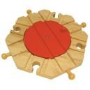 Dřevěné vláčkodráhy  - Točna s 8 výjezdy