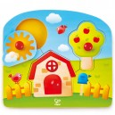 Domek se zahrádkou - úchopové puzzle