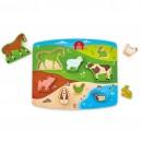 Zvířátka z farmy - puzzle a hra