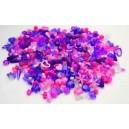 Korálky plastové růžovofialové 1000 ks