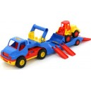 Auto s návěsem + traktor