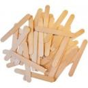 Dřevěné špachtle přírodní 100 ks