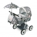 Skládací kočárek pro panenky s deštníkem SKY-M
