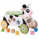 Dřevěný motorický vozík kravička