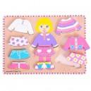 Oblékací puzzle holčička