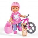 Panenka Evička s bicyklem